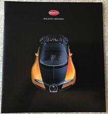 New BUGATTI Certified Brochure Guide! Rare Find! Free USA Ship!