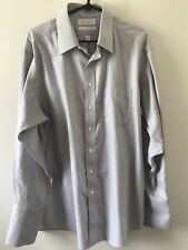 Gold Label Roundtree & Yorke Non Iron Royal Oxford Shirt Size 17/34