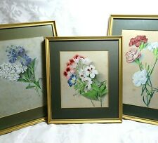 BOTANICAL STILL LIFE FLOWERS FLORAL STUDY Watercolour Painting 1833 1860 SIGNED
