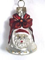 RED GOLD LLEAF BELL GLOCKE GERMAN BLOWN GLASS CHRISTMAS ORNAMENT MATCHING SET