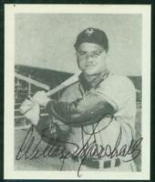 Original Autograph of Willard Marshall of the NY Giants on a Reprint Card