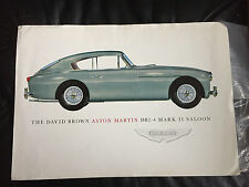 The David Brown Aston Martin DB2-4 Mark II Saloon RARE ORIGINAL Factory Brochure