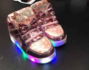 Shoes Sneakers With Lights Girl Cute Glitter Boots