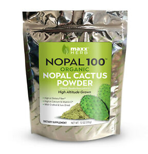 Maxx Herb Nopal 100 - 12oz - Green Nopal Cactus Powder - Organic - 1 Bag