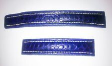 BREITLING BLUE CROCO LEATHER STRAP - 18mm/16mm. 18/16. HEAVILY DISCOUNTED.