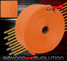 """30Ft X 2"""" X 1.5mm Jdm Heat Thermo Wrap Cover Exhaust Turbo Charger Header Orange"""