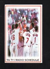 Cleveland Indians--1996 Pocket Schedule--Key Bank