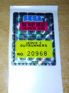 OUTRUNNERS ORIGINAL SEGA SEAL ARCADE STICKER NO. 20968 *BEST OFFER* *TRACKED*