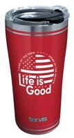 Tervis Life is Good Land of Free 20 oz. Stainless Tumbler Travel Cup Mug Lid USA