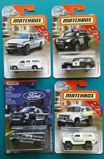 🔥Matchbox Lot of 4 POLICE heros Ford Chevy Emergency first responder vehicles