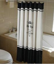 Shower Curtain Fabric Paris French Classic Black White 180x200 cm