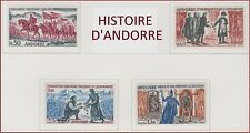 1963-1964 ANDORRE N°167/170** Histoire CHARLEMAGNE NAPOLEON...French Andorra MNH