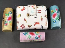 Wallets Womens 1 Wallet And 3 Lipstick Holders With Mirror All Snap Closure NEW
