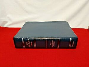 Clean! 1984 NIV Life Application Bible Navy Blue Bonded Leather by Zondervan VG-