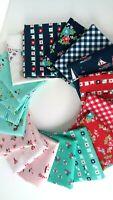 SEASIDE Tasha Noel Girl Fabric Nautical Riley Blake Designs Fabric Bundle