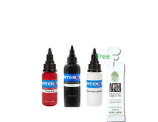 Intenze Authentic Tattoo Ink 3pcs Basis Set 1oz with Free After inked Pillow Pac