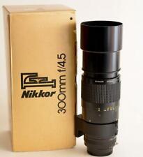 NIKON NIKKOR F AIS 300mm f/4.5  manual focus