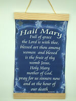 Hail Mary Prayer..., Canvas Wall Print, 8x12, Dark blue background