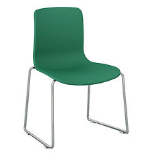 Dal Acti Chrome Sled Base Chair Teal