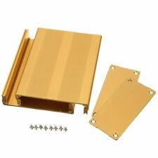 Gold Extruded Aluminum PCB Electronic Project Circuit Box Enclosure Case DIY Kit