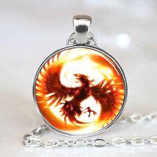 Phoenix Necklace Photo Tibet silver Cabochon glass pendant chain Necklace
