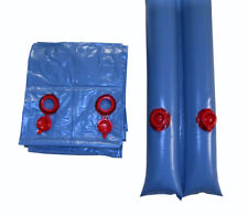 Swimming Pool Winter Cover 8 ft Double Water Tubes 15 Pack