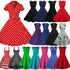 Cotton Blend Scoop Neck Party Spotted Dresses for Women