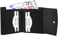 Akzent Herren Geldbörse Echt-Leder 10 x 9 cm Schwarz Portemonnaie X495837501012