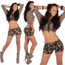 Markenlose Damen-Shorts & -Bermudas mit Unifarben