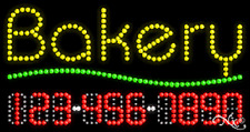 """NEW """"BAKERY"""" 32x17 w/YOUR PHONE NUMBER SOLID/ANIMATED LED SIGN 25017"""
