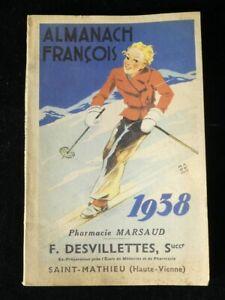 ALMANACH FRANCOIS 1938 Saint-Mathieu (Haute-Vienne)