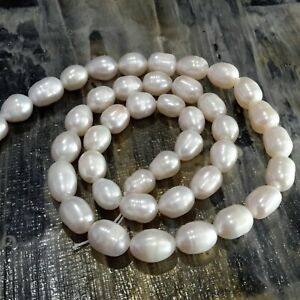 Nat Cultured Freshwater Pearl,, Rice, 8-10x7-8mm, Approx 41pcFree Post Oz Seller