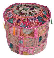 Pink Large Indian Pouf Ottoman Cover Pouffe Pouffes Foot Stool Urban Ottoman