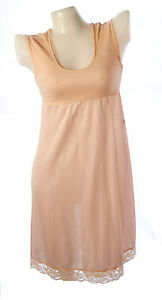 Junior cotton,nylon full slip sleeveless dress no.42 dust pink sz 10-28