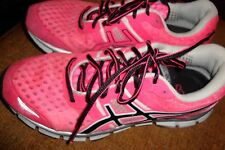 WOMENS ASICS GEL BLUR33 ATHLETIC RUNNING SHOES T1H8N HOT PINK & BLACK SIZE 9 EUC