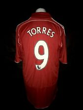 Liverpool 2007-08 Home Vintage Football Shirt #9 Torres - Very Good Condition
