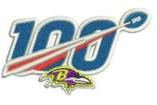 BALTIMORE RAVENS TEAM PATCH JERSEY NECKLINE / CAP PANEL 100TH NFL ANNIVERSARY
