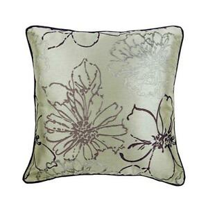 """Decorative Jacquard Couch Pillowcase 14""""x14"""" Purple, Abstract - Floral Lounge"""