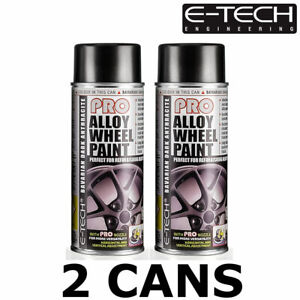 2x E-TECH Pro Alloy Wheel Spray Paint BAVARIAN DARK ANTHRACITE 400ML Car Chip Re