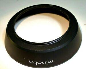 Minolta 55mm Lens Hood metal screw in for MC 28mm f2.5 ROKKOR