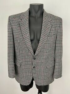 Vintage Size 107 / 42 Plaid Tweed Jacket Stafford Ellinson Sportscoat Wool Blend