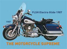 FLSH Signe En Métal Electra Glide Moto 8x11 cm Tôle Carte Signe PC-201/395