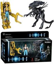 Funko Reaction Aliens - Ripley Power Loader Alien Queen Action Figure Set