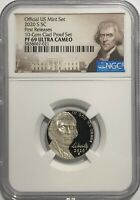 2020 S NGC PF69 FIRST RELEASE PROOF JEFFERSON NICKEL ULTRA CAMEO