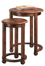 2-Piece Nesting Tables In Warm Cherry By Coaster 901039