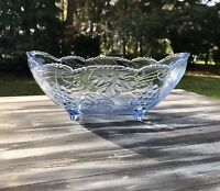 Art Déco Jardiniere Schale Pressglas Glasschale blau Obstschale Weindekor