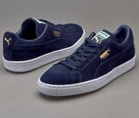 NIB Men's PUMA size 9 Suede Classic + Shoes sneakers navy 356568 52