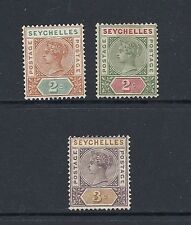 Mint Hinged Seychellois Colony Stamps (Pre-1976)