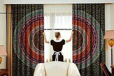 Indisch Mandala Volant Tür Dekor Fenster Behandlung Vorhang Kunst 2 PC Vorhang