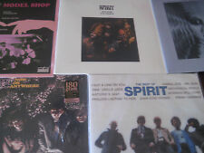 SPIRIT COLLECTION OF 5 TITLES CLEAR,,S/T, MODEL SHOP, BEST OF, 12 Dreams 6 LPSET